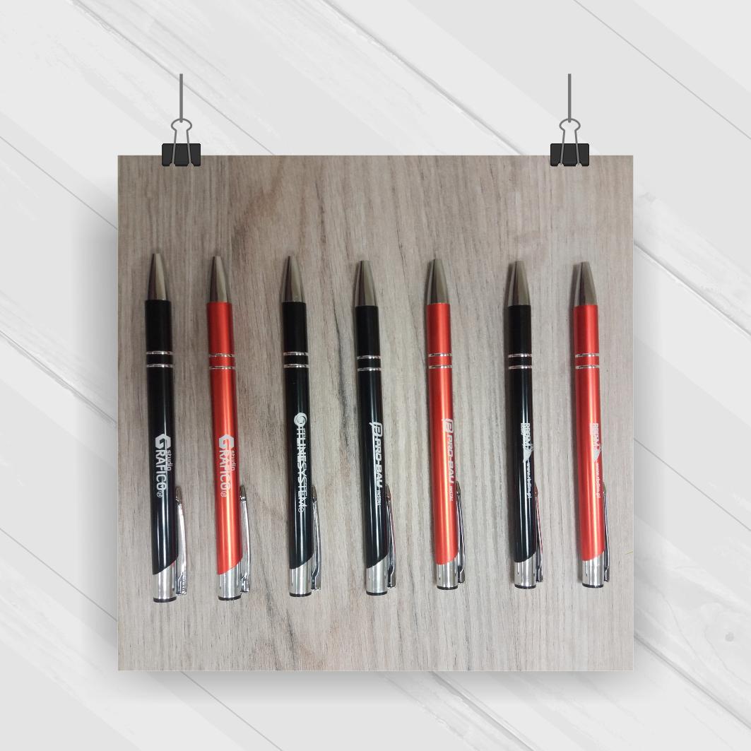 Projekt & Druk - długopisy z logo