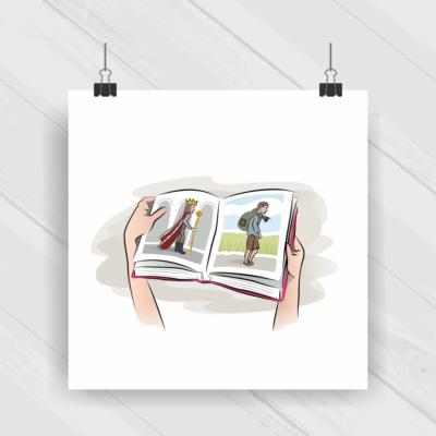 Projekt graficzny - autorski rysunek wektorowy
