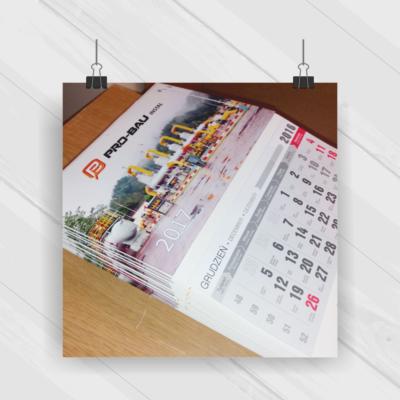 Projekt & Druk - kalendarz trójdzielny