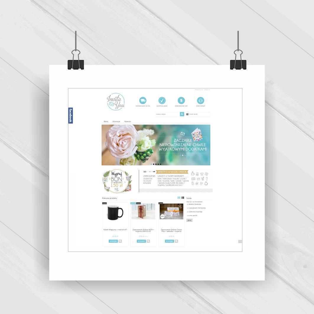 Projekt graficzny - sklep internetowy Inviteyou.pl