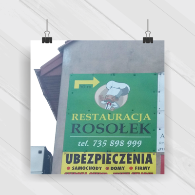 Projekt & Druk & Montaż - reklama 2x2 m