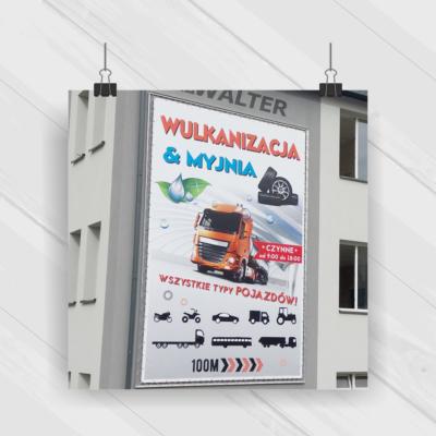 Projekt & Druk & Montaż - reklama z systemem napinającym 4x6 m