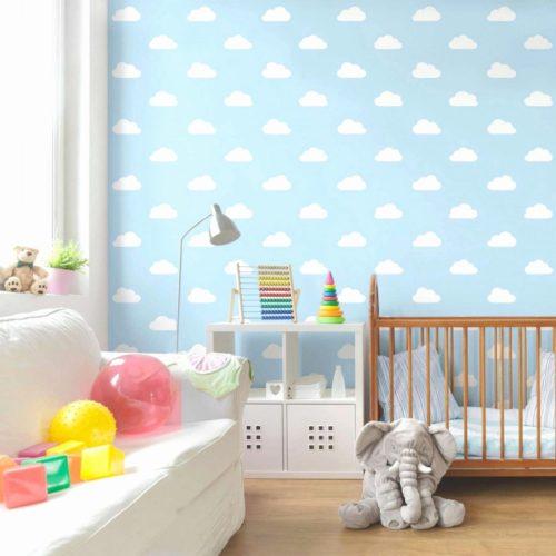 Tapeta z nadrukiem w pokoju dziecięcym